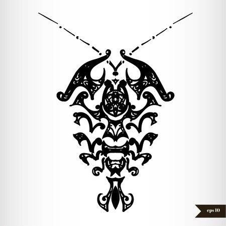 star tattoo: Zodiac signs black and white - Cancer