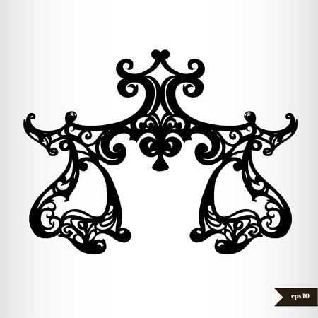 Zodiac signs black and white - Libra Vector