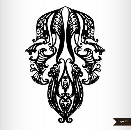 Zodiac signs black and white - Gemini Vector