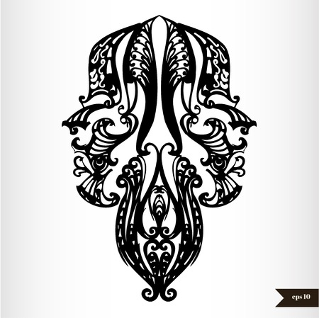 Zodiac signs black and white - Gemini Vector