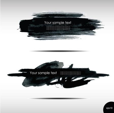 grungy header: Vector illustration of Splash banners set Illustration