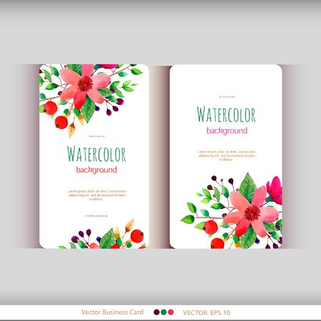 Set of abstract watercolor cards.