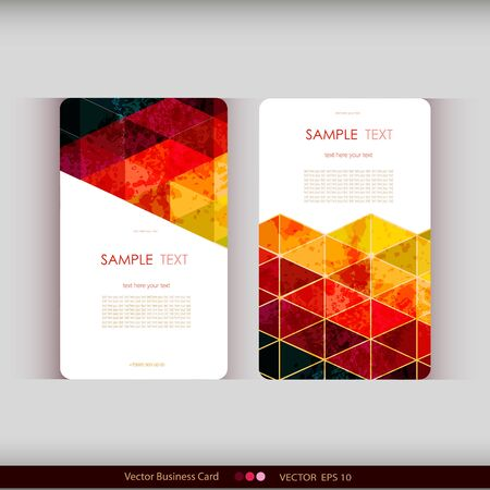 web banner: Set of abstract geometric business cards. Vector illustration