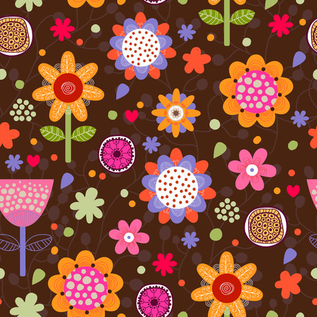 wallpaper floral: Floral seamless pattern.Seamless texture with flowers.Seamless pattern can be used for wallpaper, pattern fills, web page background, surface textures.