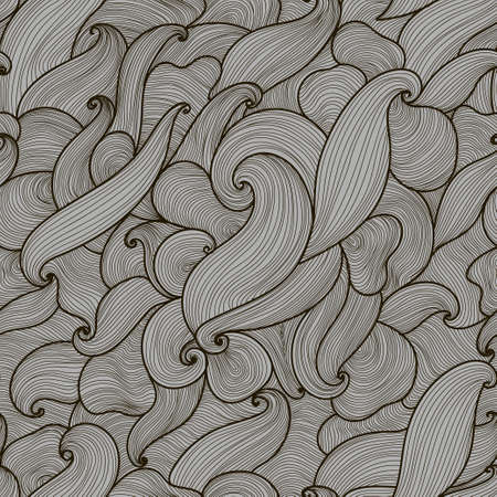 vibration: Vector abstract hand-drawn black and grey waves seamless pattern. Seamless pattern can be used for wallpaper, pattern fills, web page background, surface textures.