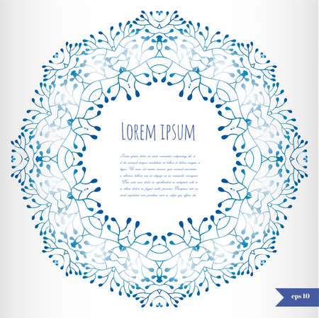 blue floral: Blue floral background with place for your text Illustration