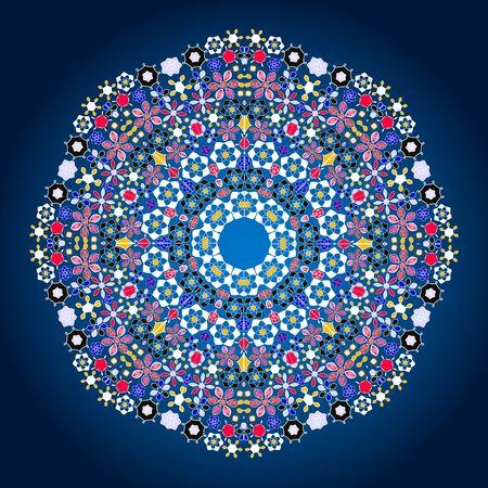 Ornamental round lace pattern.Delicate circle.  illustration