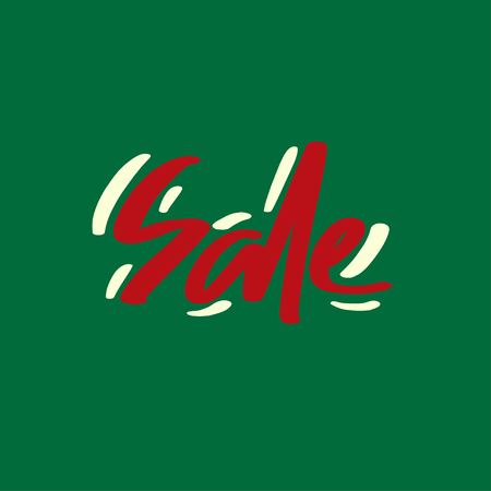 Holiday sale, Christmas discount, new year special offer - great handdrawn lettering for markets, shops and shopping centres. Ilustração