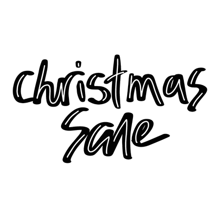 Holiday sale, Christmas discount, new year special offer - great handdrawn lettering for markets, shops and shopping centres. Christmas sale graphic elements. - Vector