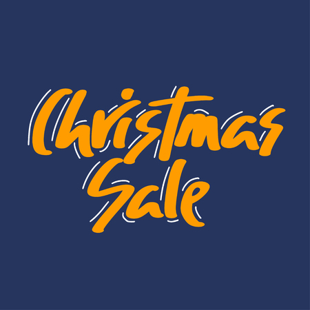 Holiday sale, Christmas discount, new year special offer - great handdrawn lettering for markets, shops and shopping centres.Christmas sale graphic elements. - Vector