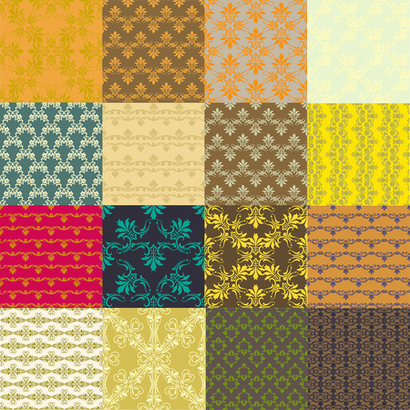 Seamless vintage patterns. Vector background for textile design. Seamless pattern can be used for wallpaper, pattern fills, web page background, surface textures.