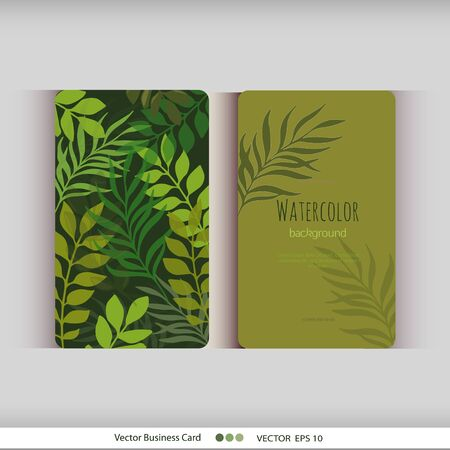 Set of abstract watercolor cards. Watercolor flowers.Vector illustration