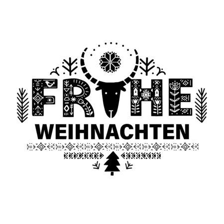 Merry Christmas in German - Frohe Weihnachten