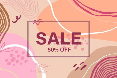 Sale header or banner with space for text on abstract colorful background. Good for website, social media, email, print, ads design and promotional material. Elegant sale and discount promo background Illustration