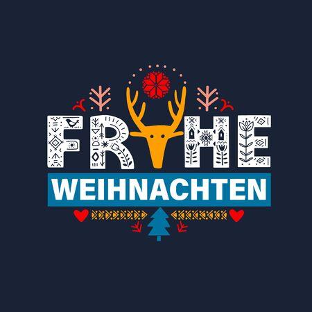 Merry Christmas in German - Frohe Weihnachten.