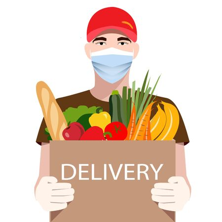 Online Delivery Service concept. Food delivery.