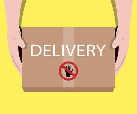 Online Delivery Service concept. Food delivery. Illustration