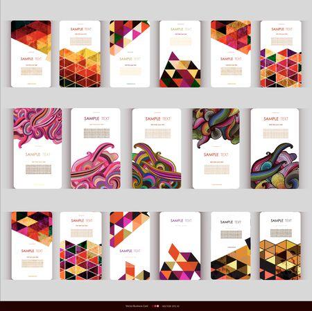 Modern Abstract geometric Business-Card Set