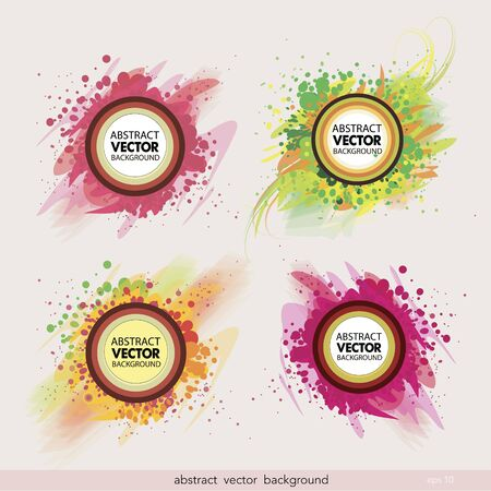 Set of abstract label vector background.Vector