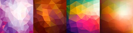 Set of colorful geometric background. Vector set