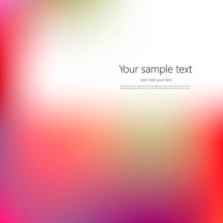 Abstract Creative concept vector multicolored blurred background.