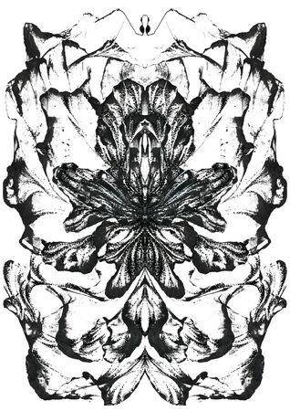 Abstract black ink background. Black paint stroke texture