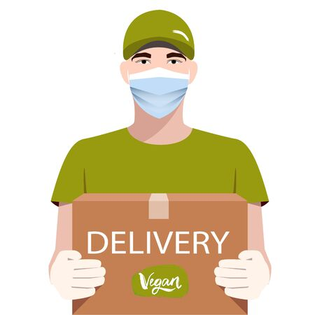 Online Delivery Service concept. Food delivery. Vector