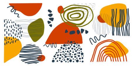 Abstract contemporary modern trendy set. Vector set