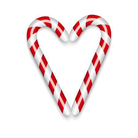 candy cane christmas decor vector illustration stock vector 85386964