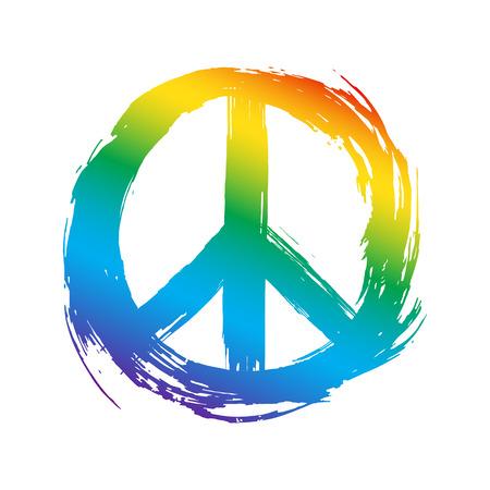 Peace symbol. Vector illustration.
