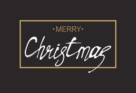 Greeting card. Merry Christmas. Vector illustration. Vektorové ilustrace