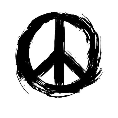 Friedenszeichen. Friedens-Hippie-Symbol.