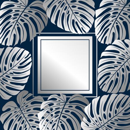 Tropical background. Vector illustration.
