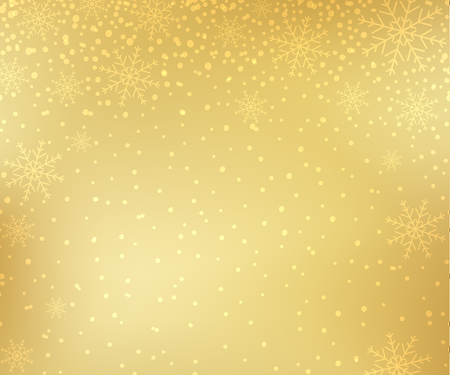 Christmas snowflake pattern on a gold background. Stok Fotoğraf - 123521091