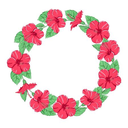 Blossom flower frame. Vector illustration.