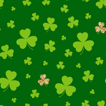 Abstract pattern of leaf clover. Vector illustration.