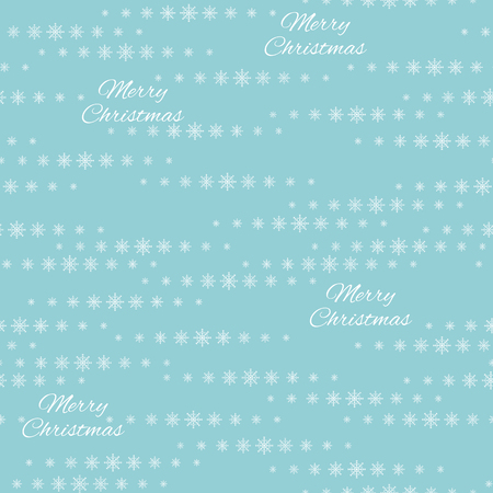 Snowflakes on a blue background. Vector Illustration.  Christmas decor.
