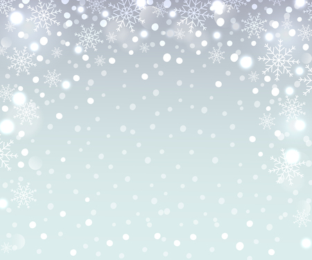 Holiday backdrop snowflake pattern. Winter background. Vector illustration.