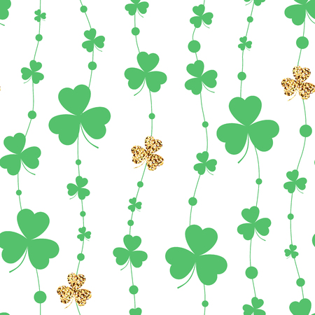 Background with clover. Seamless pattern. Vector illustration.