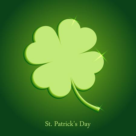 St. Patricks day. Green clover. Vector illustration. Illustration