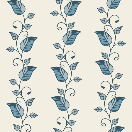 Seamless vector floral pattern. Retro pattern. Vector floral pattern.