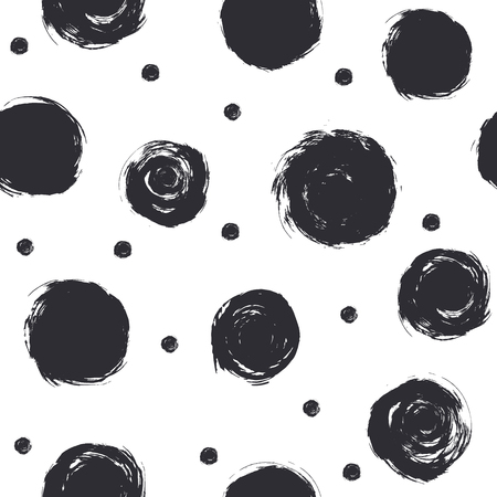 The stain black on a white background. Drawing by hand. Vector illustration.