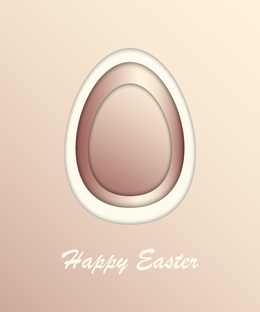 Easter egg, gold greeting card Happy Easter. Stok Fotoğraf - 123069961