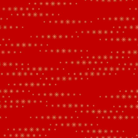 Snowflakes on a red background. Vector Illustration.  Christmas decor.