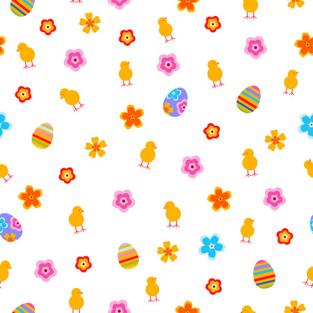 Easter egg and chick  seamless vector pattern. Stok Fotoğraf - 123069965