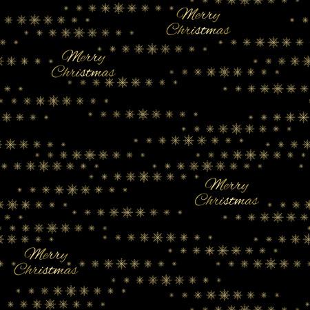 Snowflakes on a black background. Vector Illustration. Christmas decor. Çizim