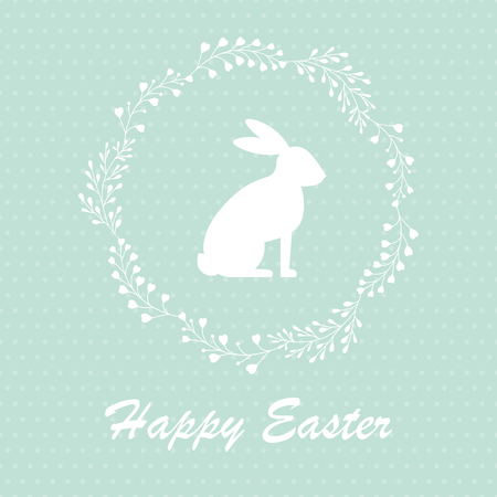 Easter background, with easter bunny. Çizim
