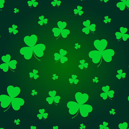 St. Patrick's day background in green colors. Seamless pattern. Stok Fotoğraf - 123069976