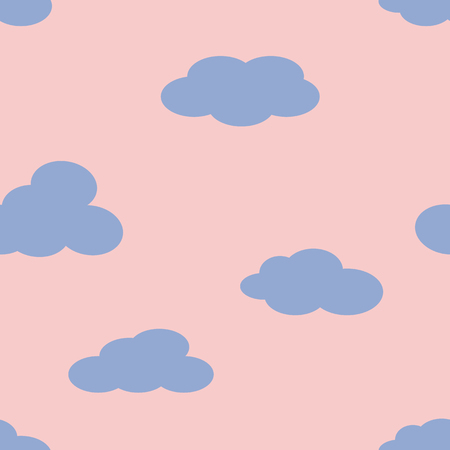 Clouds in the sky.  Vector illustration. Stok Fotoğraf - 123069982