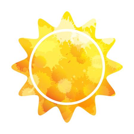 Sun. Sun Icon. Vector illustration. Sun icon isolated.